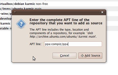Memasukkan APT Line pada Software Source